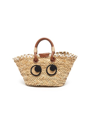 Main View - Click To Enlarge - ANYA HINDMARCH - Woven basket smooth rope charm