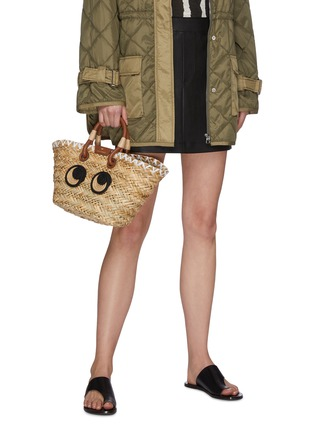 Figure View - Click To Enlarge - ANYA HINDMARCH - Woven basket smooth rope charm