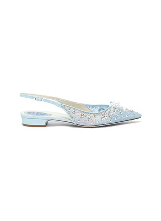 Main View - Click To Enlarge - RENÉ CAOVILLA - Strass lace slingback pumps