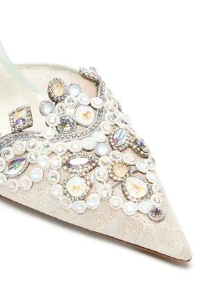 Detail View - Click To Enlarge - RENÉ CAOVILLA - 'Veneziana' embellished lace slingback pumps