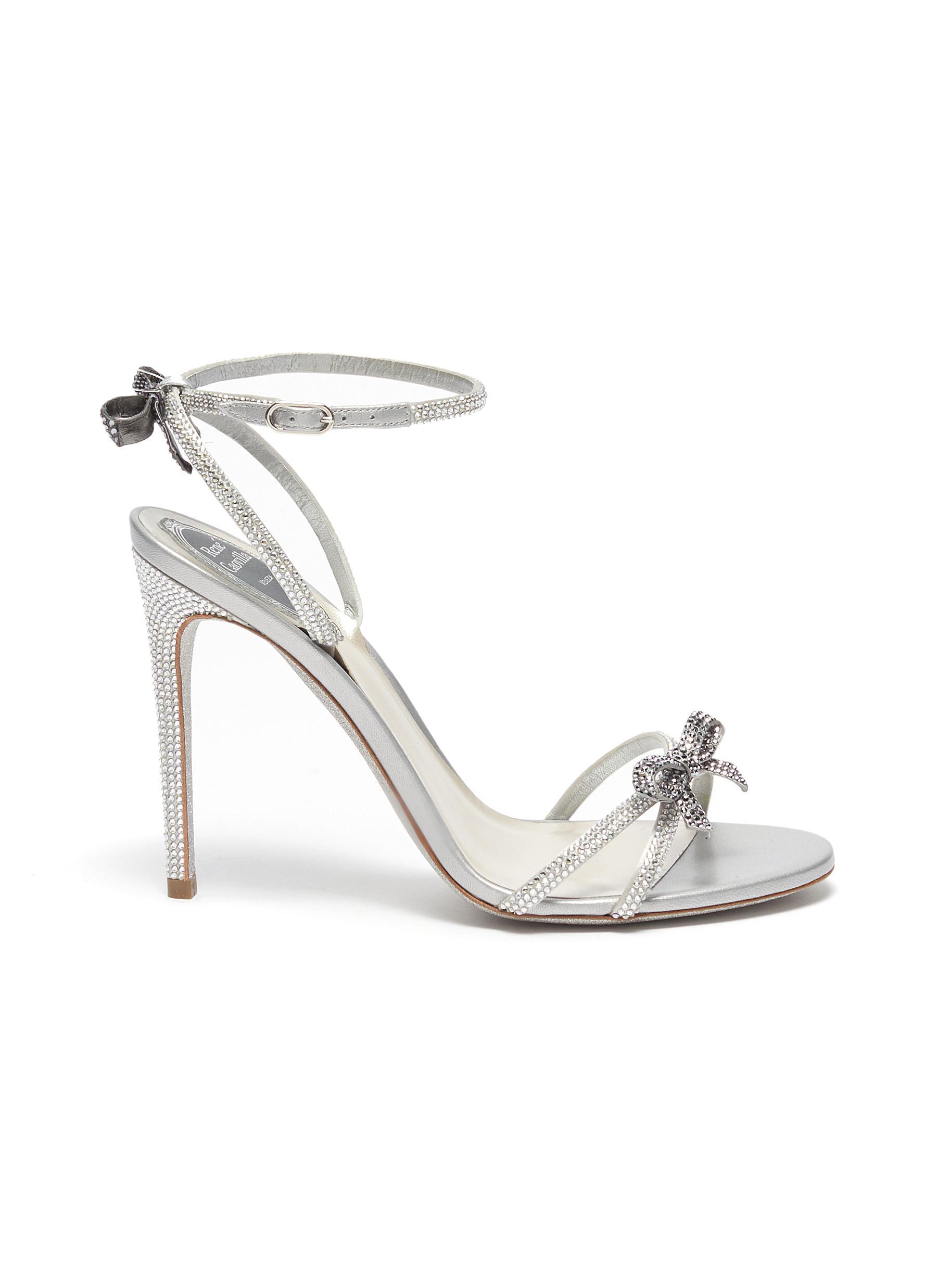 René Caovilla High Heels Bow cross strap strass embellished heels