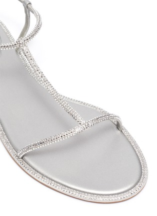 Detail View - Click To Enlarge - RENÉ CAOVILLA - Embellished satin strappy sandals