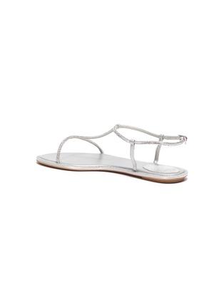 - RENÉ CAOVILLA - Embellished satin strappy sandals