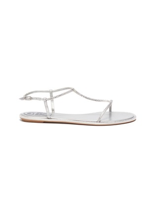 Main View - Click To Enlarge - RENÉ CAOVILLA - Embellished satin strappy sandals