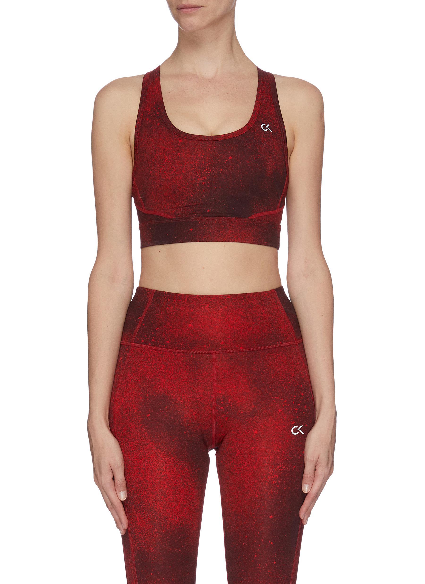 shop Calvin Klein Performance 'Galaxy' mesh back panelled sports bra online