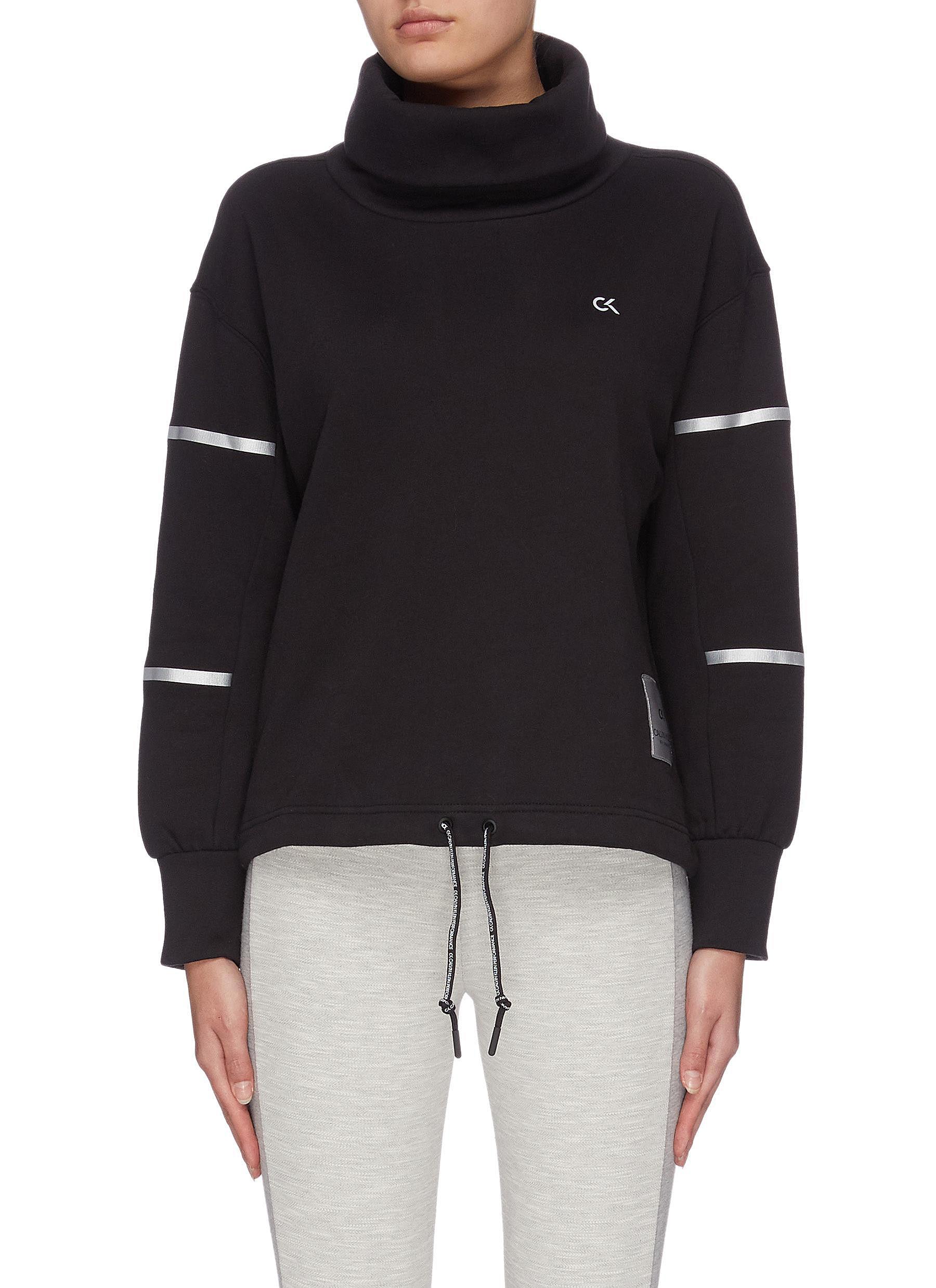 shop Calvin Klein Performance Panel sleeve turtleneck sweatshirt online
