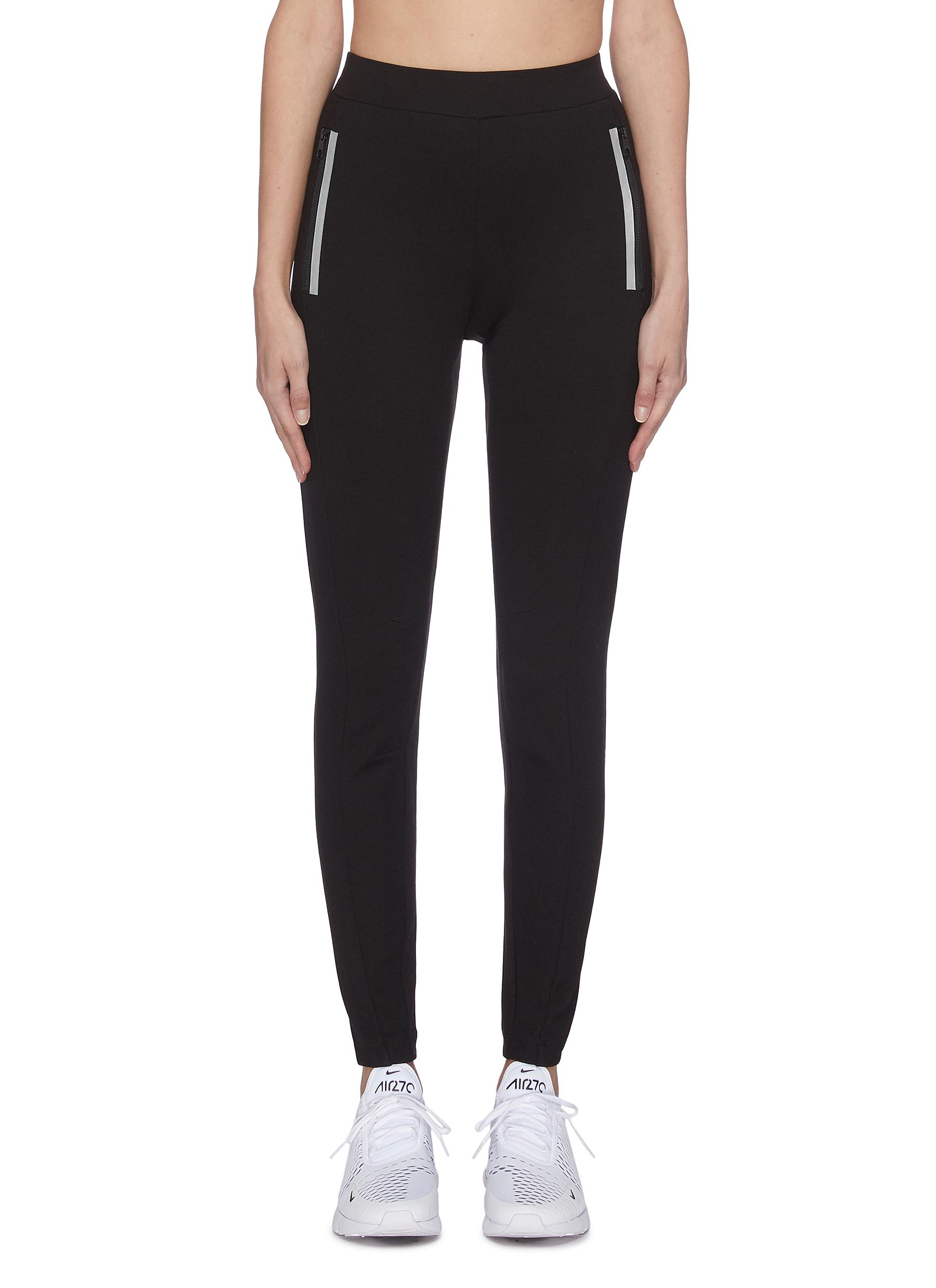 shop Calvin Klein Performance Contrast zip panel pants online