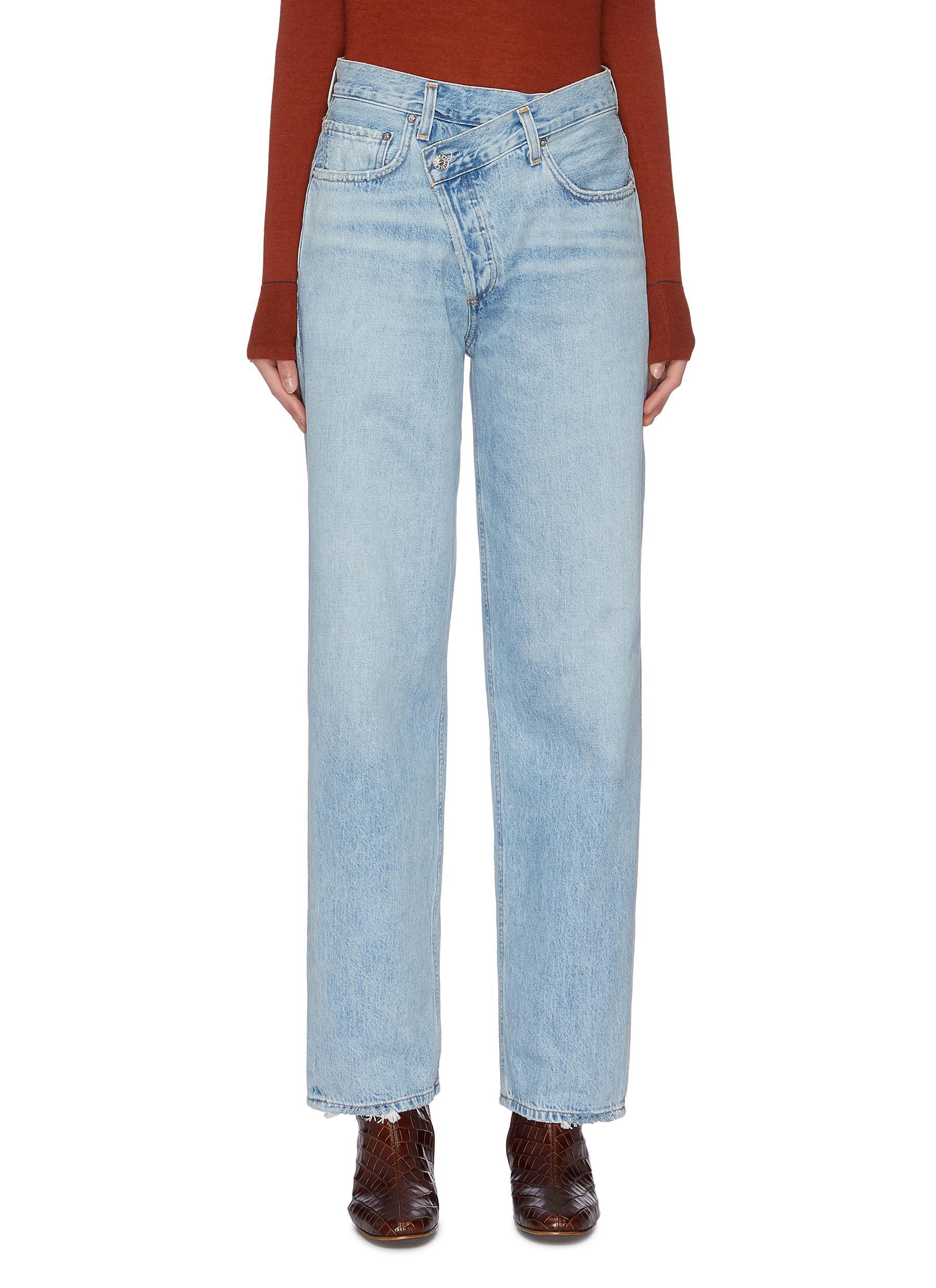 Buy Agolde Jeans 'Criss Cross' straight leg jeans