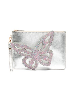Main View - Click To Enlarge - SOPHIA WEBSTER - 'Flossy' glittered butterfly embellished pouchette