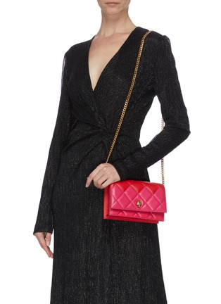 Figure View - Click To Enlarge - ALEXANDER MCQUEEN - Quilted leather small crossbody bag