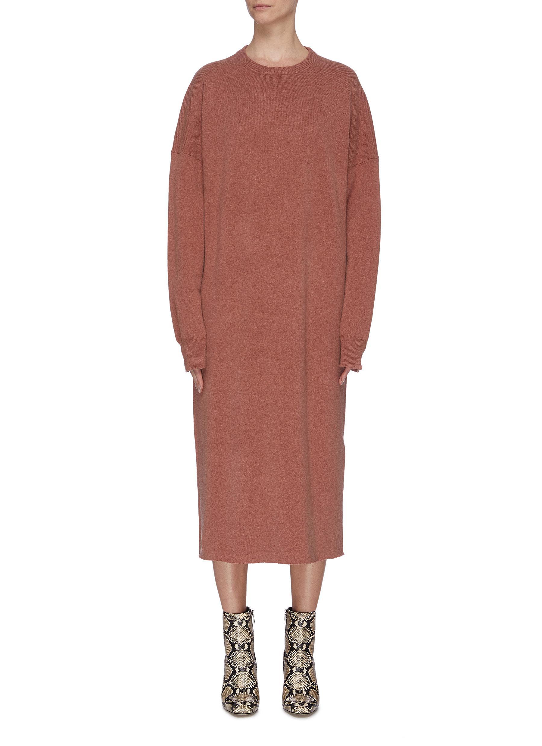 shop Extreme Cashmere Raglan sleeve oversized cashmere blend dress online