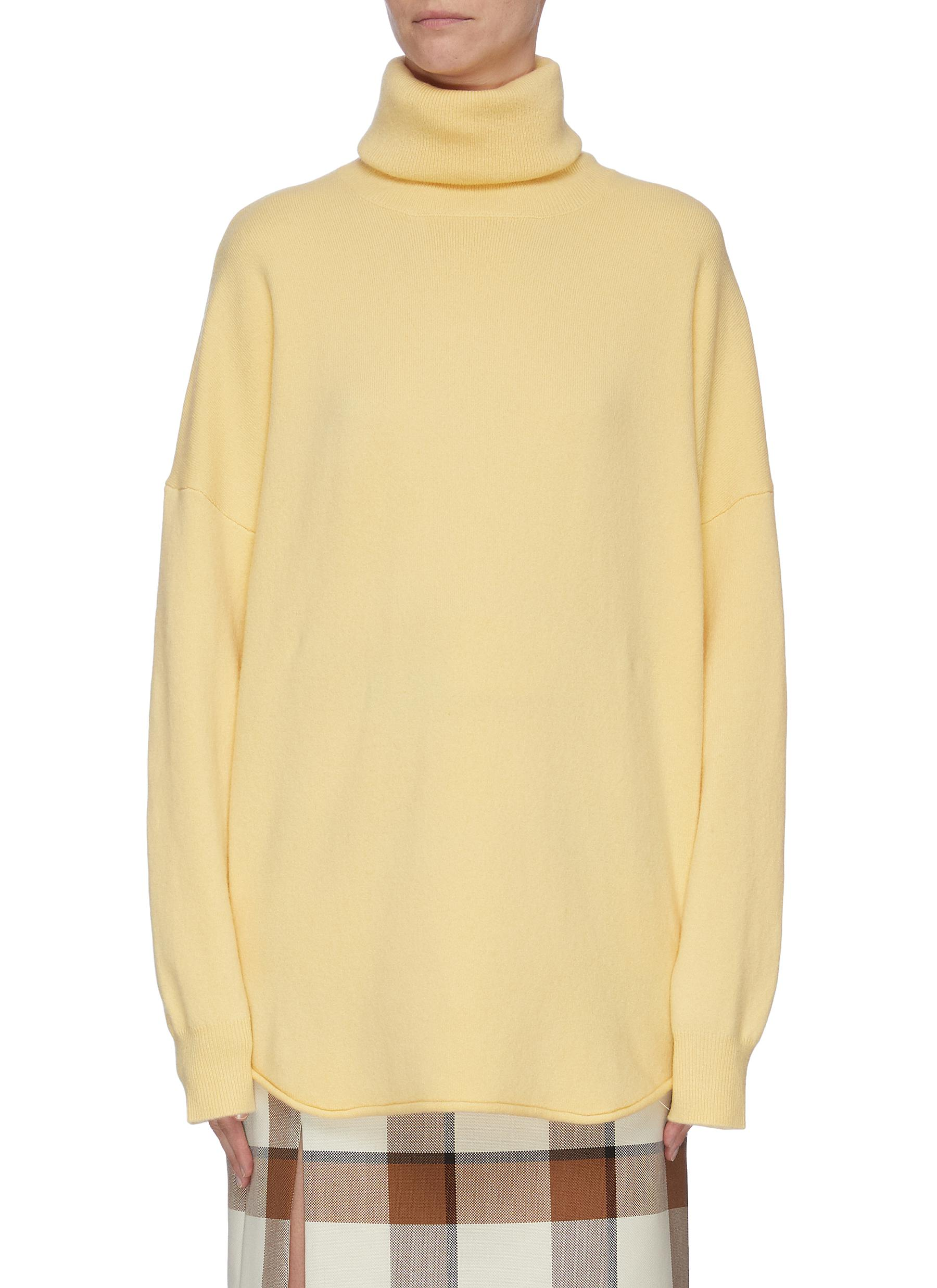 shop Extreme Cashmere Puff sleeve cashmere blend turtleneck knit top online