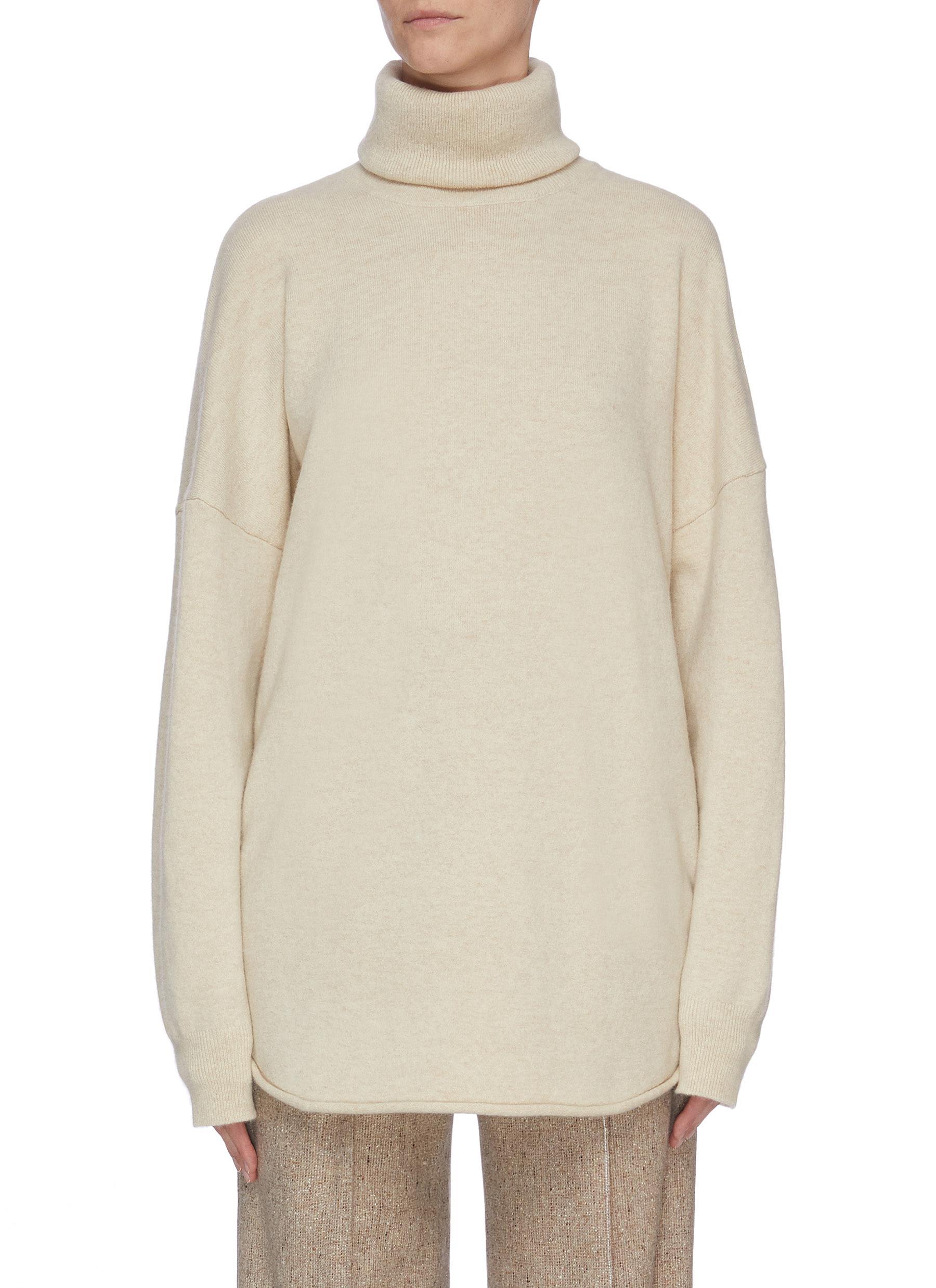 shop Extreme Cashmere Puff sleeve cashmere turtleneck knit top online