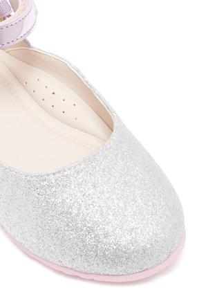 Detail View - Click To Enlarge - SOPHIA WEBSTER - 'Chiara' wing APPLIQUÉ metallic toddlers ballerina flats