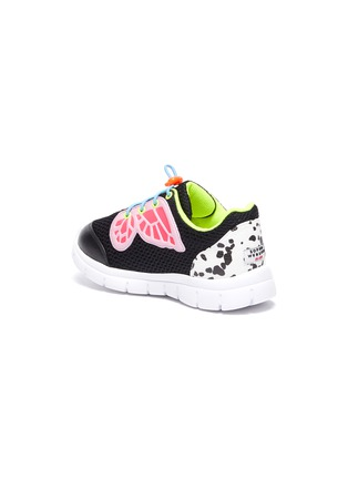 Detail View - Click To Enlarge - SOPHIA WEBSTER - 'Chiara' butterfly wings perforated toddlers and kids sneakers