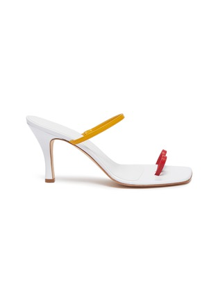 Main View - Click To Enlarge - CHRISTOPHER ESBER - 'Fu Yao' colourblock sandals