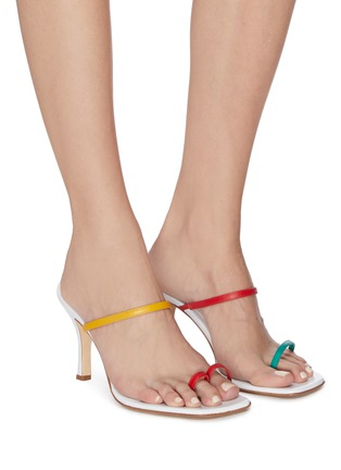Figure View - Click To Enlarge - CHRISTOPHER ESBER - 'Fu Yao' colourblock sandals