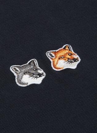 - MAISON KITSUNÉ - Double Fox Head Patch Polo Shirt