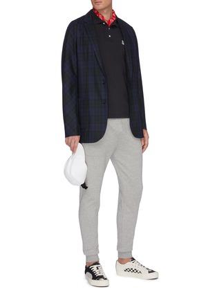 Figure View - Click To Enlarge - MAISON KITSUNÉ - Double Fox Head Patch Polo Shirt