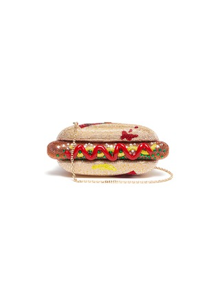 Main View - Click To Enlarge - JUDITH LEIBER - 'Hot Dog' crystal pavé minaudière