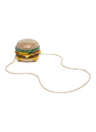 Detail View - Click To Enlarge - JUDITH LEIBER - 'Hamburger' crystal pavé minaudière