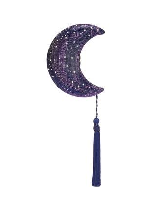 Main View - Click To Enlarge - JUDITH LEIBER - 'Crescent Moon Galaxy' tassel crystal pavé minaudière