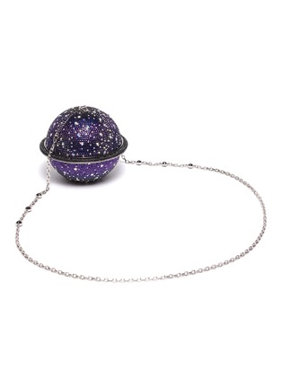 Detail View - Click To Enlarge - JUDITH LEIBER - 'Sphere Saturn' crystal pavé minaudière