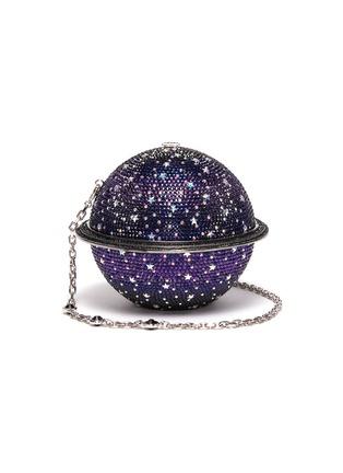 Main View - Click To Enlarge - JUDITH LEIBER - 'Sphere Saturn' crystal pavé minaudière
