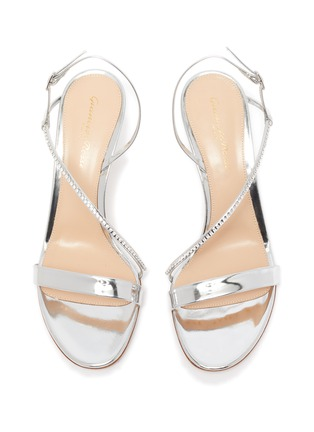 Detail View - Click To Enlarge - GIANVITO ROSSI - Strass ankle strap leather sandals