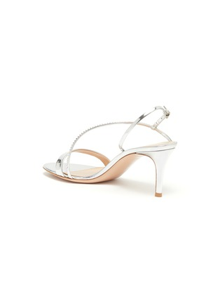 - GIANVITO ROSSI - Strass ankle strap leather sandals