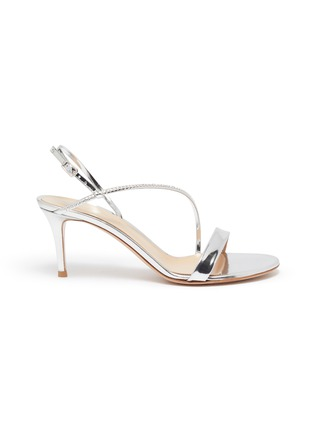 Main View - Click To Enlarge - GIANVITO ROSSI - Strass ankle strap leather sandals
