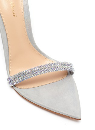 Detail View - Click To Enlarge - GIANVITO ROSSI - Crystal embellished strap sandals