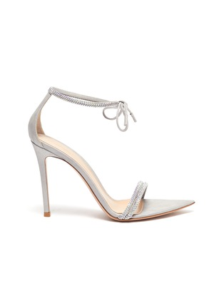 Main View - Click To Enlarge - GIANVITO ROSSI - Crystal embellished strap sandals