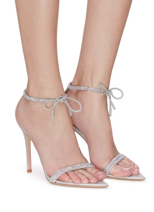Figure View - Click To Enlarge - GIANVITO ROSSI - Crystal embellished strap sandals