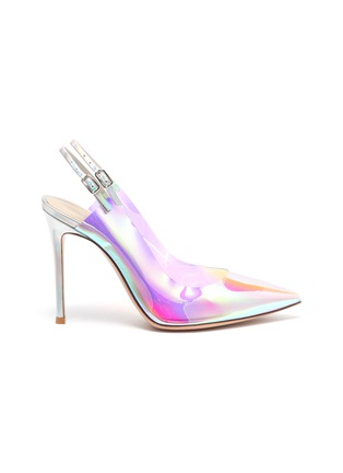 Main View - Click To Enlarge - GIANVITO ROSSI - Hologram PVC slingback pumps