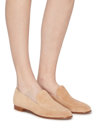 Figure View - Click To Enlarge - GIANVITO ROSSI - Marcel' suede loafers