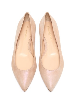 Detail View - Click To Enlarge - GIANVITO ROSSI - Leather ballet flats