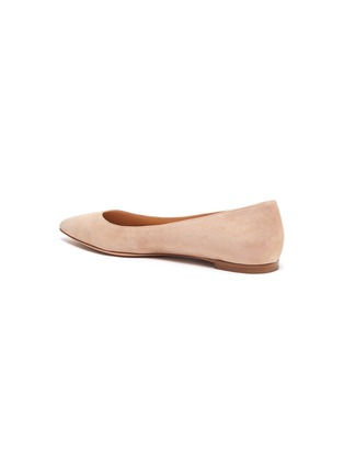 - GIANVITO ROSSI - Leather ballet flats