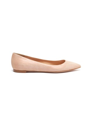 Main View - Click To Enlarge - GIANVITO ROSSI - Leather ballet flats