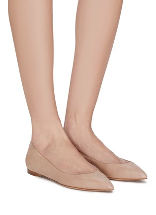 Figure View - Click To Enlarge - GIANVITO ROSSI - Leather ballet flats