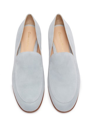 Detail View - Click To Enlarge - GIANVITO ROSSI - Suede leather loafers