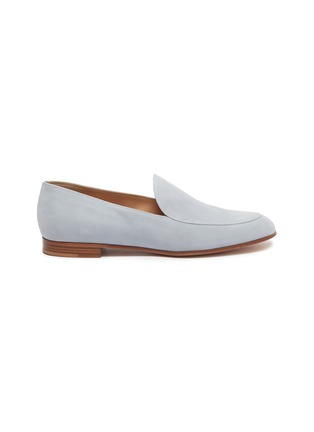 Main View - Click To Enlarge - GIANVITO ROSSI - Suede leather loafers