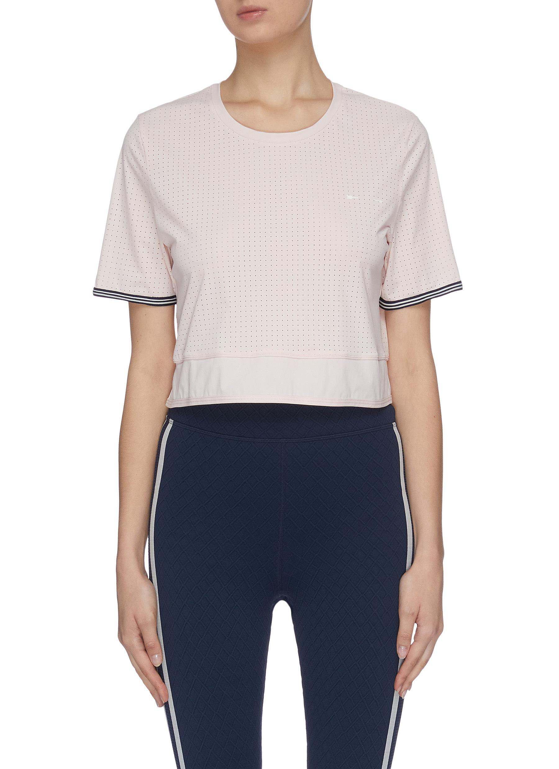 Buy The Upside Tops 'Anela' performance cropped top