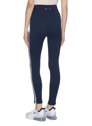 Back View - Click To Enlarge - THE UPSIDE - 'Jacquard Midi' stripe outseam performance leggings