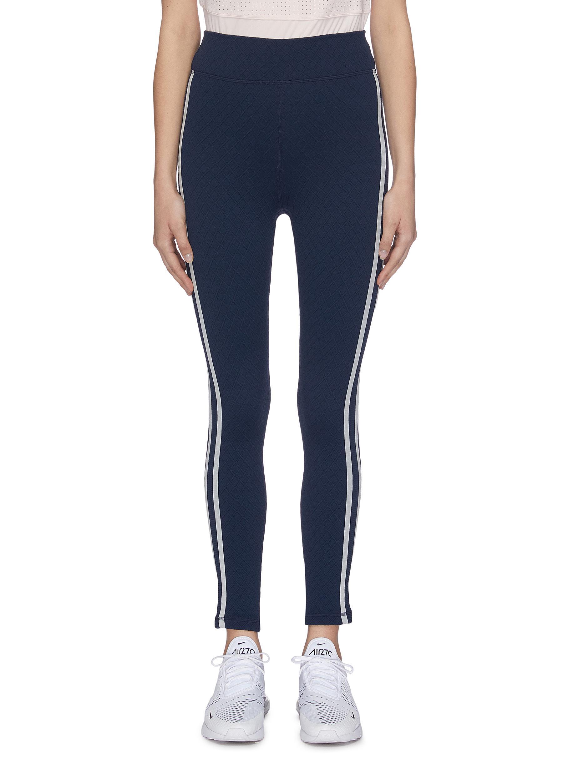 shop The Upside 'Jacquard Midi' stripe outseam performance leggings online