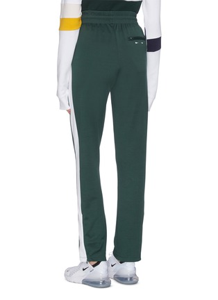 Back View - Click To Enlarge - THE UPSIDE - 'Electric NY' stripe outseam drawstring performance pants