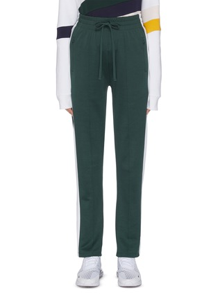Main View - Click To Enlarge - THE UPSIDE - 'Electric NY' stripe outseam drawstring performance pants