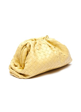 Detail View - Click To Enlarge - BOTTEGA VENETA - 'The Pouch' woven leather clutch