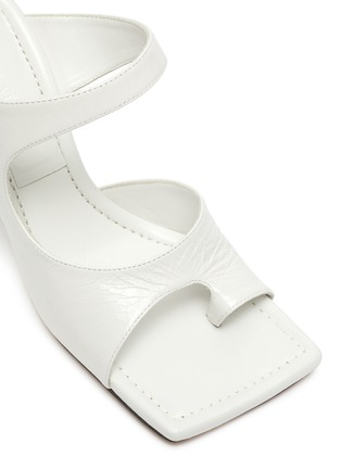 Detail View - Click To Enlarge - BOTTEGA VENETA - Square toe crunch lux leather mules