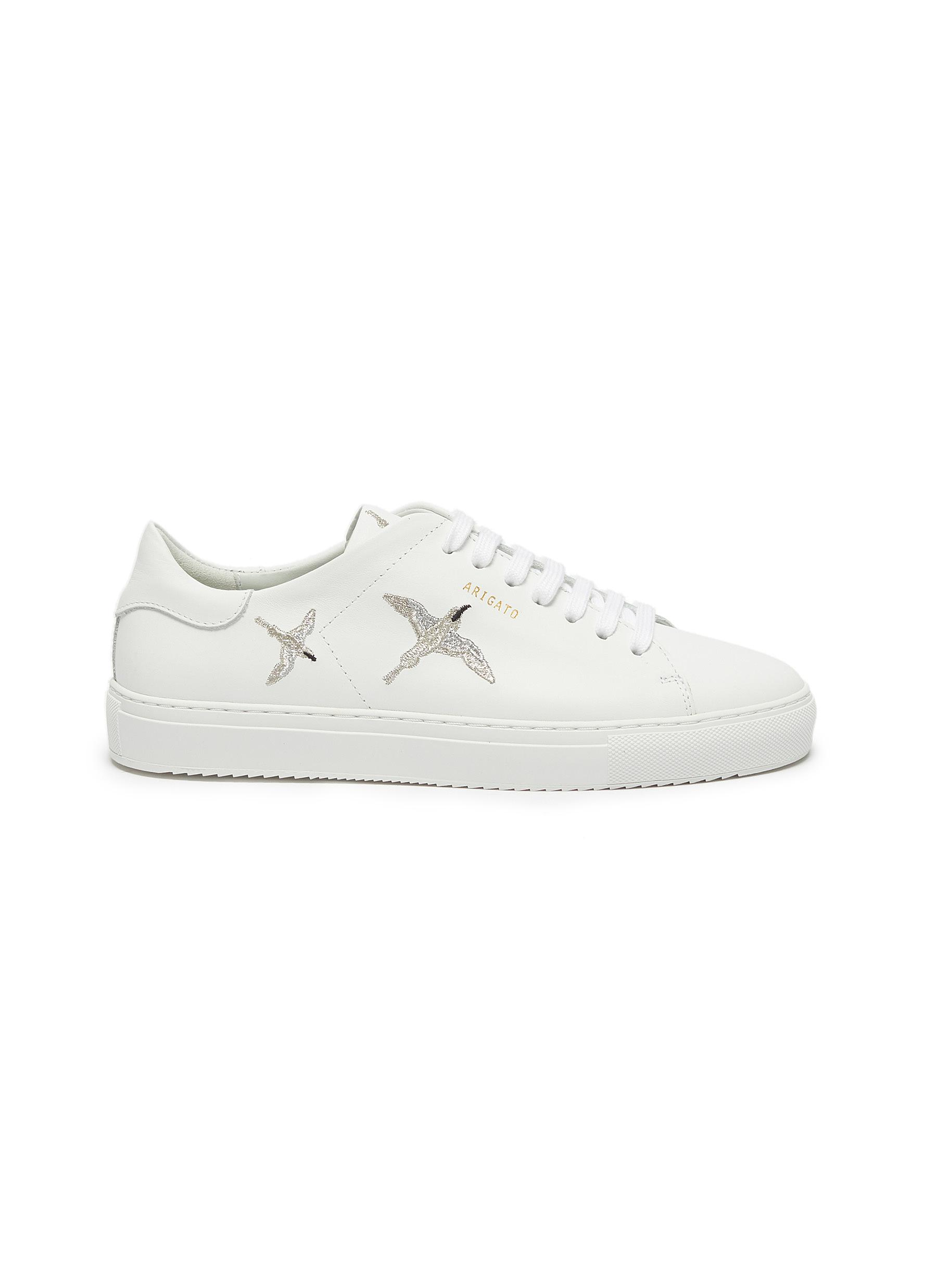 shop Axel Arigato 'Clean 90' bird embroidered leather sneakers online